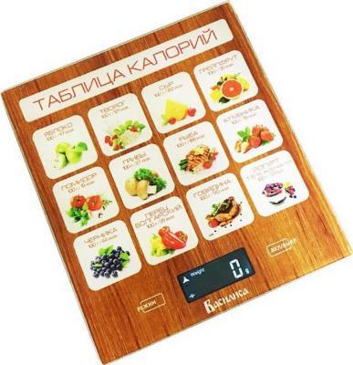Весы кухонные Василиса ВА-003 коричневый рисунок кухонные весы василиса ва 006
