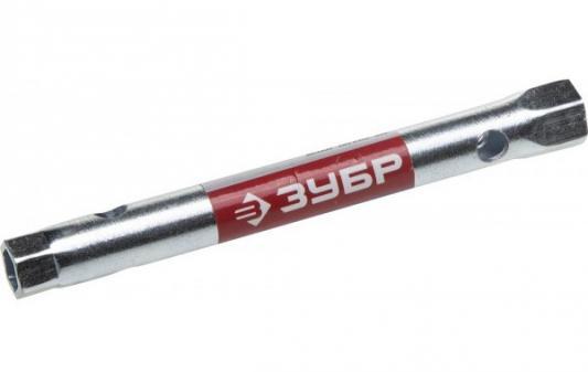 Ключ торцовый ЗУБР 27162-08-10 МАСТЕР трубчатый двухсторонний, прямой, 8х10мм ключ topex 35d930 торцевой двухсторонний трубчатый 6x7мм