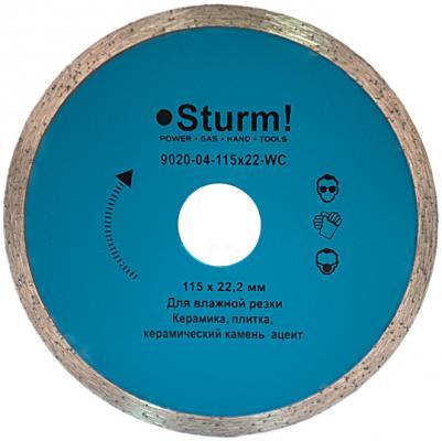 Круг алмазный STURM! 9020-04-115x22-WC влажная резка непрерывный 115м km 9020 rechargeable mens electric shaver