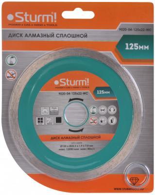 Круг алмазный STURM! 9020-04-125x22-WC влажная резка непрерывный 125мм km 9020 rechargeable mens electric shaver