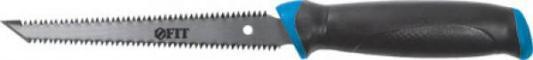Ножовка FIT 15378 гипсокартона, каленый зуб, двухсторонняя, ручка прорезиненная, 150мм