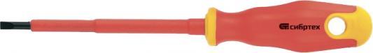 Отвертка СИБРТЕХ 12932 диэлектрическая sl4х100мм crv до 1000в двухкомпонентная рукоятка отвертка skrab 41003 sl4х100мм арт 41003