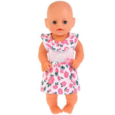 Одежда для кукол Карапуз платье &quot,розы&quot,