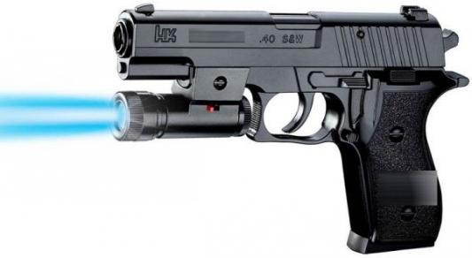 Пистолет Shantou Gepai ПИСТОЛЕТ (П) С ФОНАРЕМ, С ПУЛЬКАМИ P2118-C черный пистолет shantou gepai пистолет с присосками наручники черный b1421535