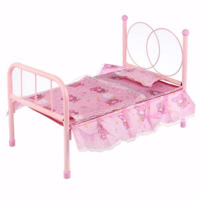 Кроватка для кукол Shantou Кровать с балдахином, для кукол кукольная кроватка с балдахином melobo 9350e