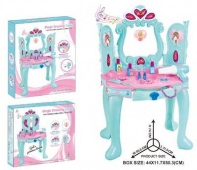 Набор игровой туалетный столик д/девочек, на бат. свет+звук, с зеркалом 3310 в кор. в кор.6шт