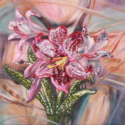 Мозайка из пайеток Волшебная мастерская Лилии росмэн пальчиковая мастерская растем ка картинки из ваты