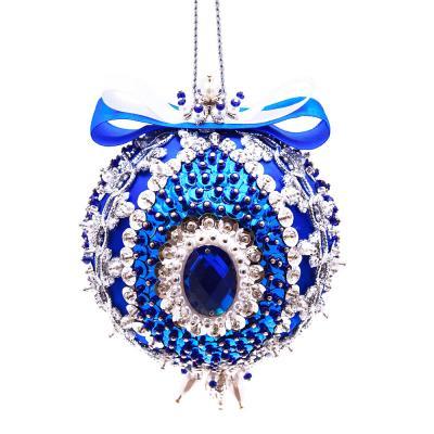 Купить Набор для изготовления шаров Волшебная мастерская Новогодний шар из пайеток. Синий иней от 10 лет, Роспись новогодней игрушки