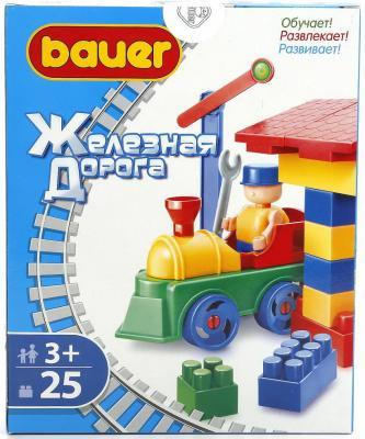 Конструктор КРОХА Bauer 25 элементов bauer кроха bauer кроха конструктор железная дорога new 200 элементов