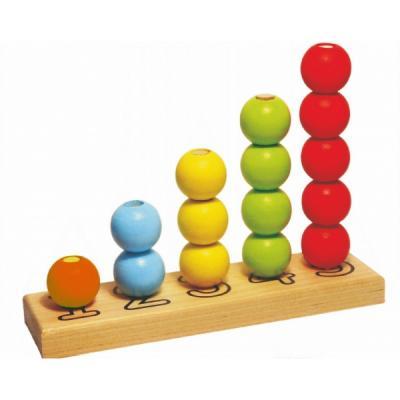 Купить ПИРАМИДКА СЧЕТЫ 16 ДЕТАЛЕЙ в кор.18шт, alatoys, Развивающие игрушки из дерева