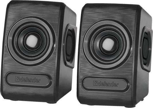 Колонки Defender Q3 2.0 Black 2x3 Вт, 50-20000 Гц, mini Jack, USB колонки dialog disco ad 07 2 0 brown 24 вт 20 20000 гц fm пульт ду mini jack usb micro sd mdf 220v