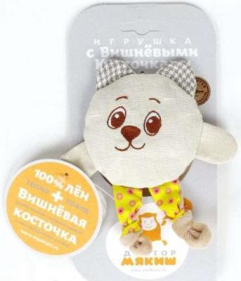 Мягкая игрушка мишка МЯКИШИ ДОКТОР МЯКИШ КРОШКА МИШКА лён 15 см, Интерактивные мягкие игрушки  - купить со скидкой
