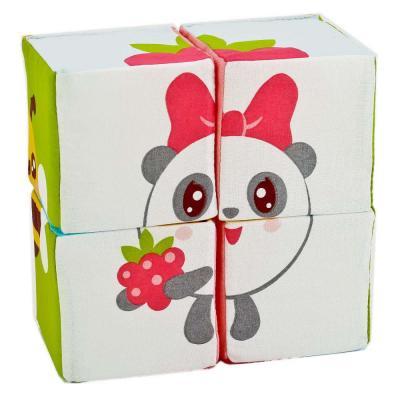 Купить Интерактивная мягкая игрушка кубики МЯКИШИ КУБИКИ МАЛЫШАРИКИ (СОБЕРИ МАЛЫШАРИКА) текстиль, разноцветный, Интерактивные мягкие игрушки
