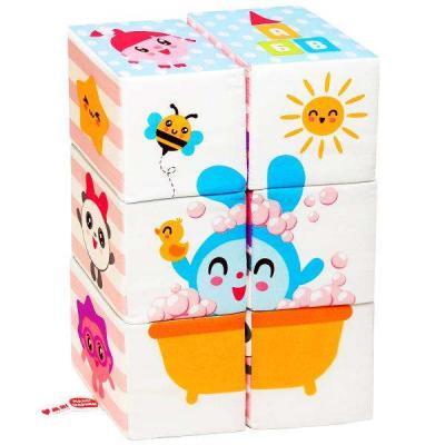 Купить Интерактивная мягкая игрушка кубики МЯКИШИ КУБИКИ МАЛЫШАРИКИ (МУЛЬТИКИ текстиль, разноцветный, Интерактивные мягкие игрушки