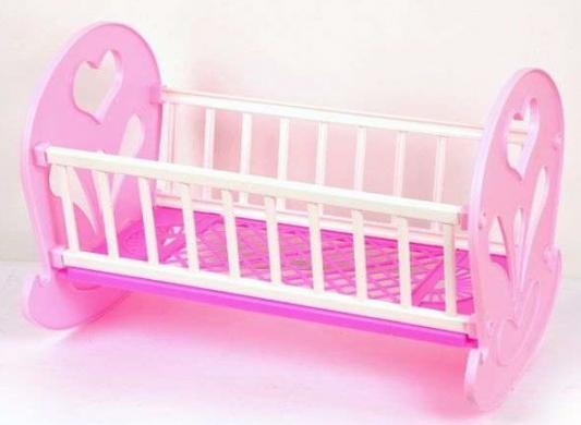Кроватка-качалка для кукол Огонек КРОВАТЬ-КАЧАЛКА кроватка для кукол огонек 1028