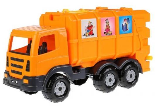 Автомобиль коммунальный Полесье ПРЕСТИЖ, АВТОМОБИЛЬ КОММУНАЛЬНЫЙ черно-оранжевый игрушки для ванны полесье паром балтик автомобиль мини 4 шт