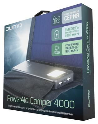 Внешний аккумулятор Power Bank 4000 мАч QUMO PowerAid Camper черный 23639 внешний аккумулятор qumo poweraid 10400 мач черный