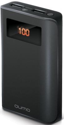Внешний аккумулятор Power Bank 9600 мАч QUMO PowerAid 9600 PRO черный 21782 внешний аккумулятор qumo poweraid 10400 мач черный