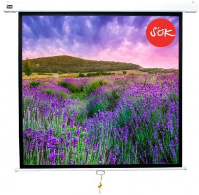 Экран Sakura'OK 180x180см Wallscreen 1:1 настенно-потолочный рулонный белый 100'