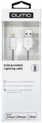 Кабель Lightning 1м QUMO 21711 круглый черный кабель lightning 1м wiiix круглый cb120 u8 10b