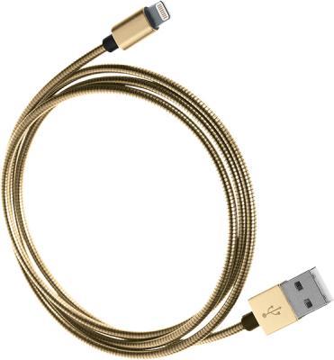 Кабель Lightning 1м QUMO 21716 круглый золотистый кабель lightning 1м wiiix круглый cb120 u8 10b