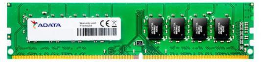 Оперативная память 4Gb (1x4Gb) PC4-19200 2400MHz DDR4 UDIMM CL17 A-Data AD4U2400W4G17-S оперативная память для ноутбука 8gb 1x8gb pc4 19200 2400mhz ddr4 udimm cl17 crucial ct8g4sfs824a