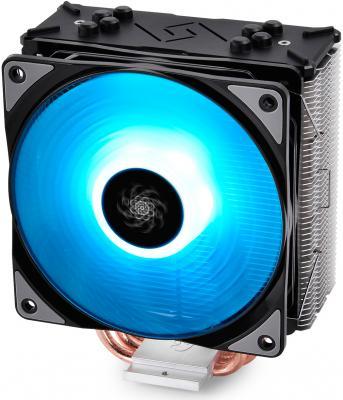 Кулер DEEPCOOL GAMMAXX GTE LGA2066/2011/V3/1366/1155/51/50/FM2/+/FM1/AM3/+/AM2/+/AM4 (12шт/кор, TDP 130Вт, PWM, RGB Lighting, 4 тепл. трубки прямого контакта ) RET кулер id cooling is 40x lga 1150 51 55 56 am4 fm2 fm1 am3 am2 низкопрофильный высота 45mm 36шт кор tdp 100w pwm 4 тепл трубки прямого контакта fan 92mm черный box
