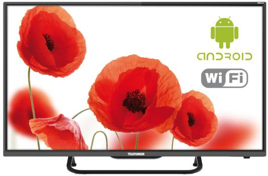"Телевизор LED Telefunken 32"" TF-LED32S70T2S черный/HD READY/50Hz/DVB-T/DVB-T2/DVB-C/USB/WiFi/Smart TV (RUS) стоимость"
