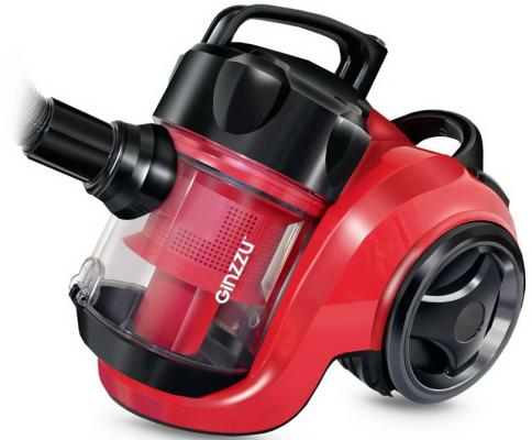 Пылесос GINZZU VS420 сухая уборка красный чёрный