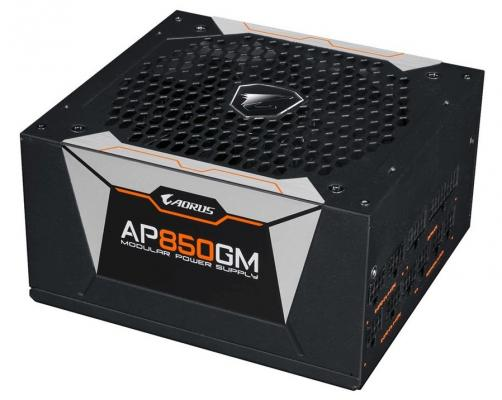 Блок питания Gigabyte ATX 850W AORUS GP-AP850GM-EU 80+ gold (24+4+4pin) APFC 135mm fan 6xSATA Cab Manag RTL блок питания aerocool atx 750w vx 750 24 4 4pin apfc 120mm fan 6xsata