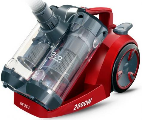 GiNZZU VS439 сер/красный пылесос без мешка цена и фото