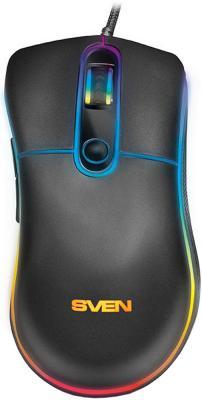 лучшая цена Игровая мышь SVEN RX-G940 USB (5+1кл. 600-6000 DPI, SoftTouch, подсветка, игров. упак)