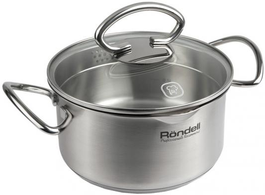Кастрюля Rondell Edel 18 см 2.1 л нержавеющая сталь кастрюля rondell edel 24 см 5 1 л нержавеющая сталь