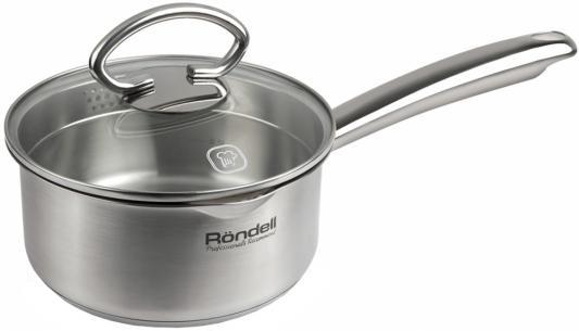 Ковш Rondell Edel 16 см 1.3 л нержавеющая сталь кастрюля rondell edel 24 см 5 1 л нержавеющая сталь