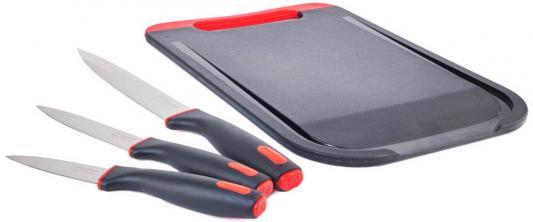 1010-RD Набор ножей 3 шт с разделочной доской Urban Rondell rondell набор ножей primarch 3 шт с разделочной доской rd 462 rondell