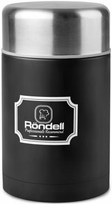 946-RDS Термос для еды 0,8 л с внутр.контейнером 0,35 л Picnic Black Rondell (BK)