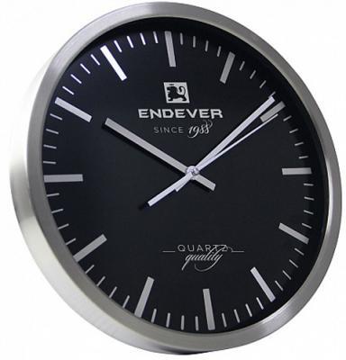 110-RealTime часы настенные, серебристо-черный, кварцевый механизм,батарейка 1хАА.