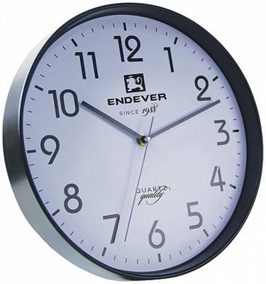 112-RealTime Часы настенные, черно-белый, кварцевый механизм, батарейка 1хАА