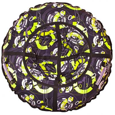 Санки надувные Тюбинг RT Галактика автокамера, диаметр 110 см тюбинг rt rt тюбинг цветы диаметр 105 см