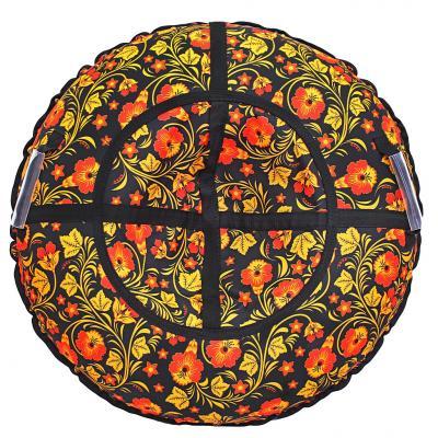 Санки надувные Тюбинг RT Узор Хохлома автокамера, диаметр 110см тюбинг rt узор хохлома 110cm