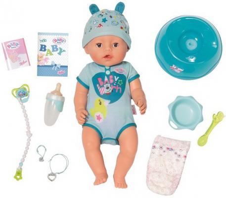 Кукла ZAPF Creation BABY born 43 см плачущая пьющая писающая цена 2017