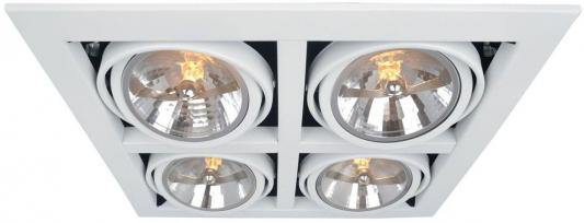 Светильник встраиваемый ARTE LAMP A5935PL-4WH CARDANI L37.8xW37.2xH14 отверстие 33.5x33.5мм 4xG5.3 arte lamp встраиваемый светильник arte lamp cardani white a5941pl 4wh