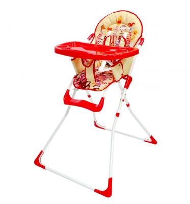Купить Стульчик для кормления Everflo Q15 (slinky), красный, металл + пластик, Стульчики для кормления
