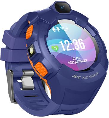 Jet Kid Gear blue/orange Умные детские часы цена и фото