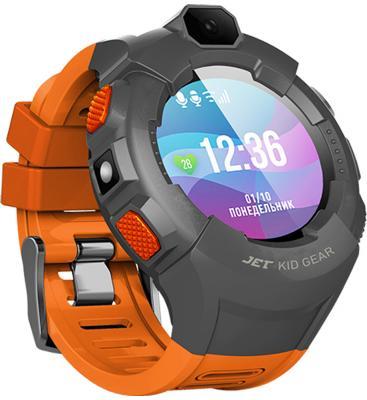 Jet Kid Gear orange/grey Умные детские часы цена и фото