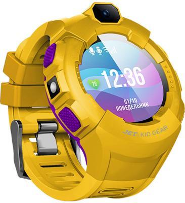 Jet Kid Gear yellow/purple Умные детские часы jet kid start blue умные детские часы