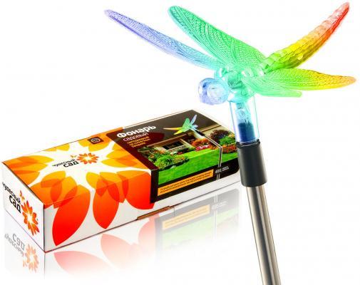 Фонарь садовый ЧУДЕСНЫЙ САД 691 Стрекоза светодиодный на солнечных батареях цена