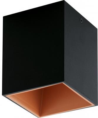Светильник настенно-потолочный EGLO POLASSO 94496 1X3.3W LED алюминий пластик черный медный цены онлайн