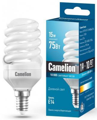 Лампа энергосберегающая спираль Camelion LH15-FS-T2-M/864/E14 E14 15W 6400K 10606 цена