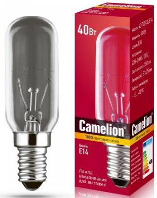 Лампа накаливания цилиндрическая Camelion MIC-40/T25/CL/E14 E14 40W 2700K 12984 лампа накаливания цилиндрическая camelion mic 15 p cl e14 e14 15w 2700k